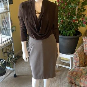 The limited size 8 skirt- light brown